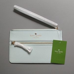 Kate Spade Light Sky Blue Mikas Pond Wristlet NWT
